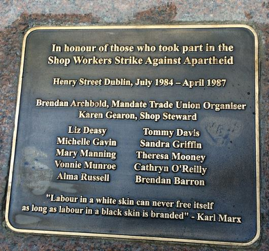 Dunnes Stores AA plaque